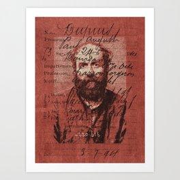 ROGUES GALLERY / 1894 Criminology - Bertillonage 001 Art Print