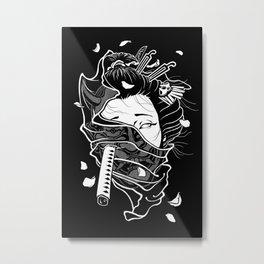 Geisha / Hannya Metal Print