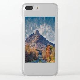 Pilot Mountain Clear iPhone Case
