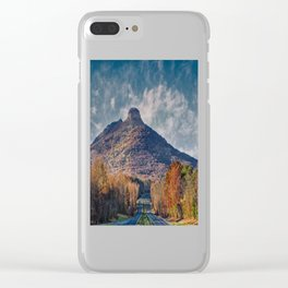 Pilot Mountain Clear iPhone Case