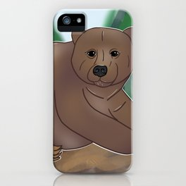 Grizzly Bear Love iPhone Case