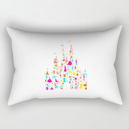 Custom colors multicolored castle characters Rectangular Pillow