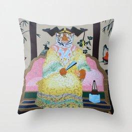 Tiger Queen Throw Pillow