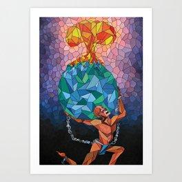 Atlas Died Art Print