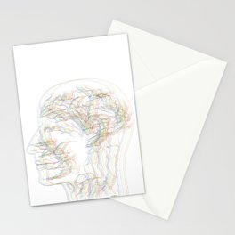 The digital drawing of human nervous system Stationery Cards