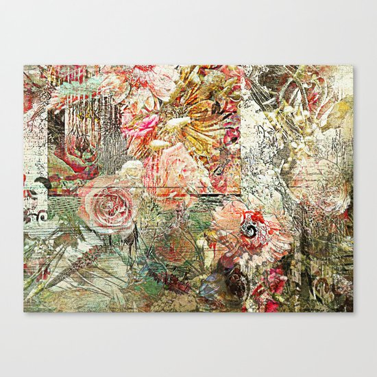 Funky Fantasy Floral Canvas Print