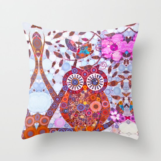 If Klimt Painted An Owl :) Owls are darling birds! Throw Pillow