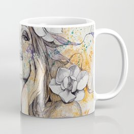 The Withering Spring I   nude tattoo woman portrait Coffee Mug