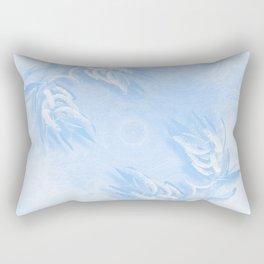 Delicate wattle bouquet in blue Rectangular Pillow