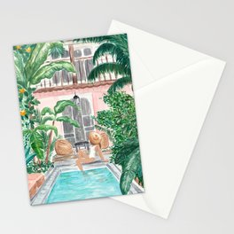 Moroccan Dream - Brunette Hair (Other Hair & Skin Tones Available) Stationery Cards