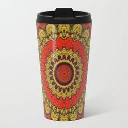Mandala Fractal in Indian Summer 03 Travel Mug