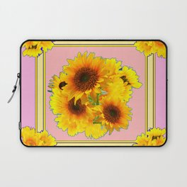 YELLOW SUNFLOWER BOUQUETS ON PINK Laptop Sleeve