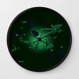After Hours In The Petri Dish Wall Clock