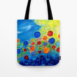 Abstract flowers Tote Bag