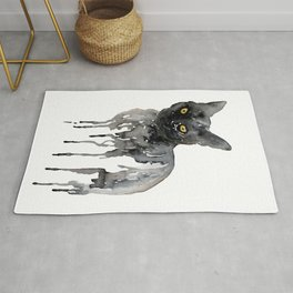 Witch cat Rug