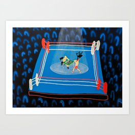 The Mystery of Chessboxing Art Print