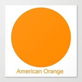 American Orange Canvas Print