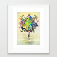 archan nair Framed Art Prints featuring Aurantiaca by Archan Nair