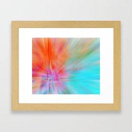 Abstract Big Bangs 002 Framed Art Print