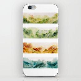 Watercolor seasons iPhone Skin