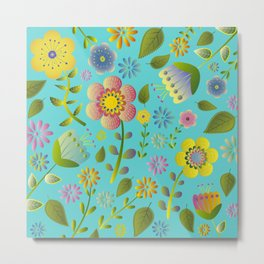 Petty Floral Pattern 3 Metal Print