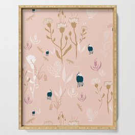 Magic Garden - Pink and Gold Serving Tray