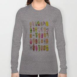 Sushi Watercolor-- Nigiri Sushi Long Sleeve T-shirt