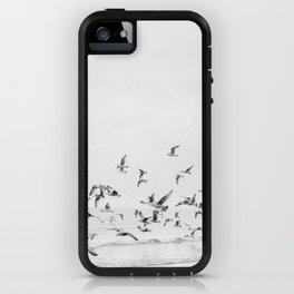"""Seagulls"" | Coastal black and white photo | Film photography | Beach iPhone Case"