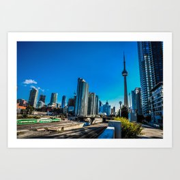 Downtown Toronto View Art Print