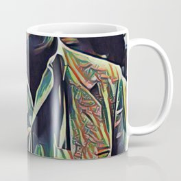 Pablo Escobar Artistic Illustration Picasso Style Coffee Mug