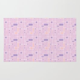 Intersecting Lines in Pink, Peach and Lavender Rug