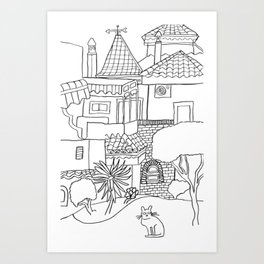 Garden Of Malaga Art Print