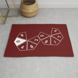 Red Unrolled D10 Rug