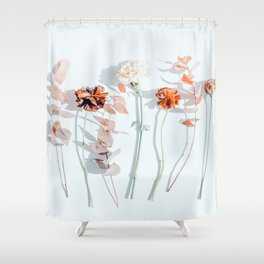 Minima #phoography #floral Shower Curtain
