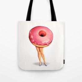 Donut Girl Tote Bag