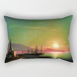 Sunrise in Feodosia on the Black Sea by Ivan Aivazovsk Rectangular Pillow