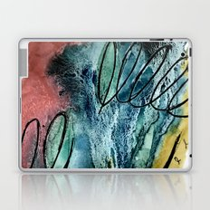 Motion: an abstract mixed media piece in muted primary colors Laptop & iPad Skin