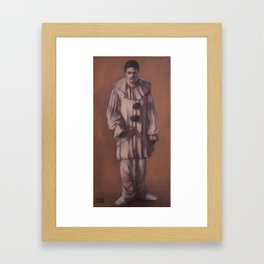 Sad harlequin. Framed Art Print