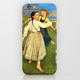Children Dancing In A Ring - Hans Thoma iPhone Case