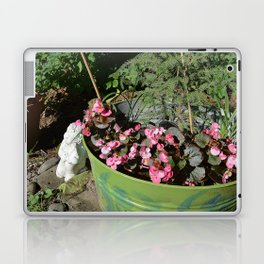 Sun kissed Garden Angel and Begonias Laptop & iPad Skin