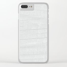 Gray Weathered Wood Clear iPhone Case