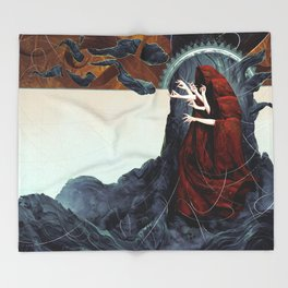 FATED : The Silent Oath - Norns  Throw Blanket