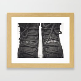 AJ Retro 11 B&W Pt.2 Framed Art Print