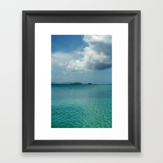 Caribbean Sea View Framed Art Print
