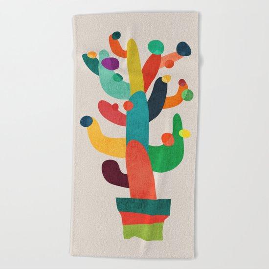 Whimsical Cactus Beach Towel