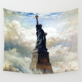 Statue of Liberty Unveiled by Edward Moran Wall Tapestry