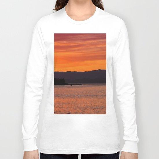 Sundown over Oban Bay Long Sleeve T-shirt