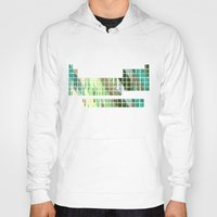 periodic table Hoodies featuring Periodic Table, Pixilated Color Blocks by kltj11