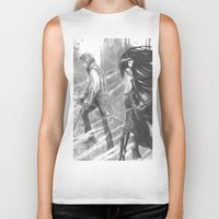 castlevania Biker Tanks featuring castlevania by Oxxygene