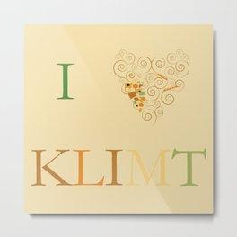 I heart Klimt Metal Print